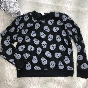 Ultra soft skull skeleton crew neck sweater